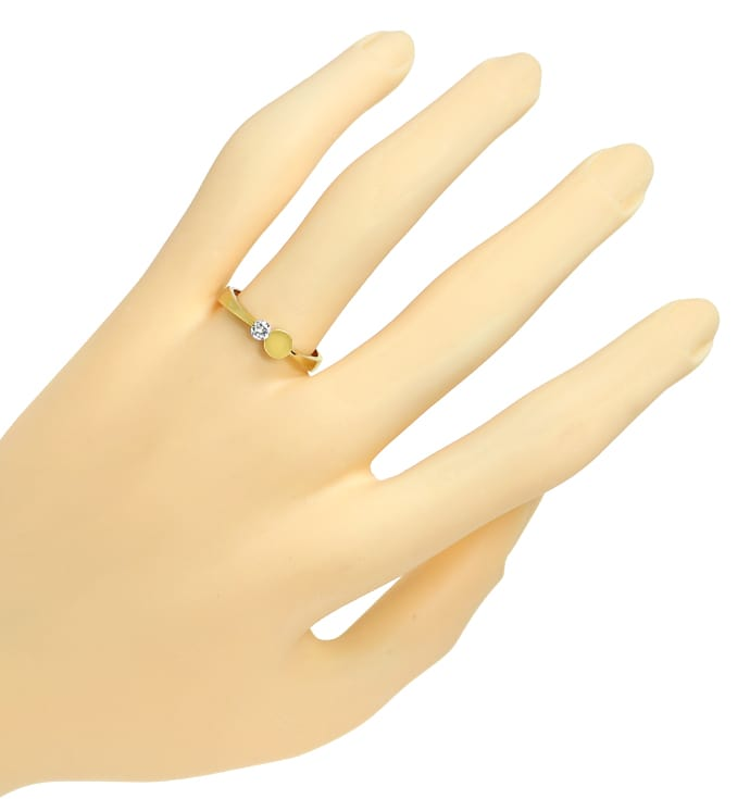 Foto 4 - Bezaubernder Design Ring 0,10ct Brillant Solitär in 14K, R8973