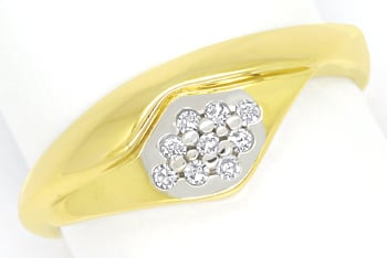 Foto 1 - Attraktiver Diamantring mit 9 Diamanten in 14K Gelbgold, R8977