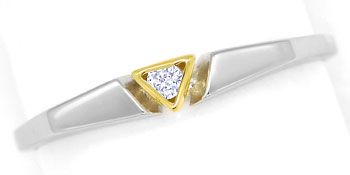 Foto 1, Design-Diamantring 0,03 Brillant lupenrein, Platin Gold, R9022