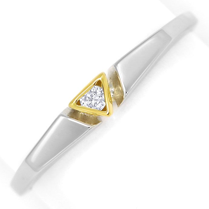 Foto 2, Design-Diamantring 0,03 Brillant lupenrein, Platin Gold, R9022