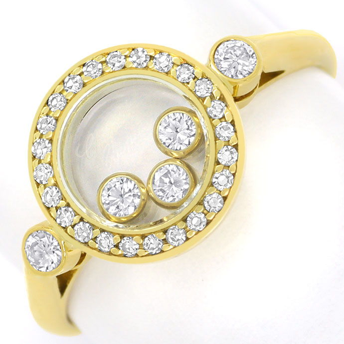 Foto 2, Chopard Ring Happy Diamonds bewegliche Diamanten 0,39ct, R9050