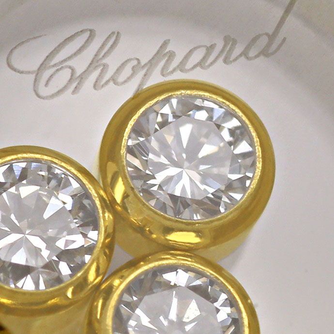 Foto 4, Chopard Ring Happy Diamonds bewegliche Diamanten 0,39ct, R9050