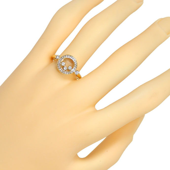 Foto 6, Chopard Ring Happy Diamonds bewegliche Diamanten 0,39ct, R9050
