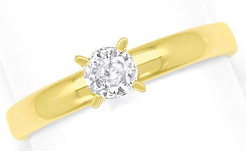 Foto 1, Diamantring mit 0,23ct Brillant Solitär in 14K Gelbgold, R9067