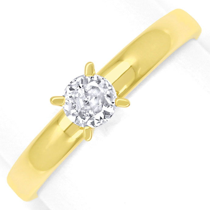 Foto 2, Diamantring mit 0,23ct Brillant Solitär in 14K Gelbgold, R9067