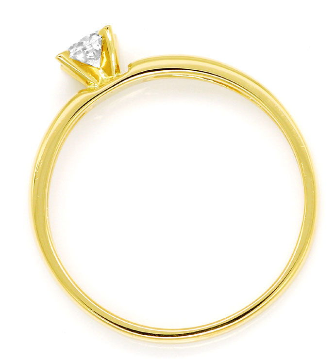 Foto 3, Diamantring mit 0,23ct Brillant Solitär in 14K Gelbgold, R9067