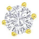 Diamant-Ohrstecker mit 0,38ct River Brillanten Gelbgold