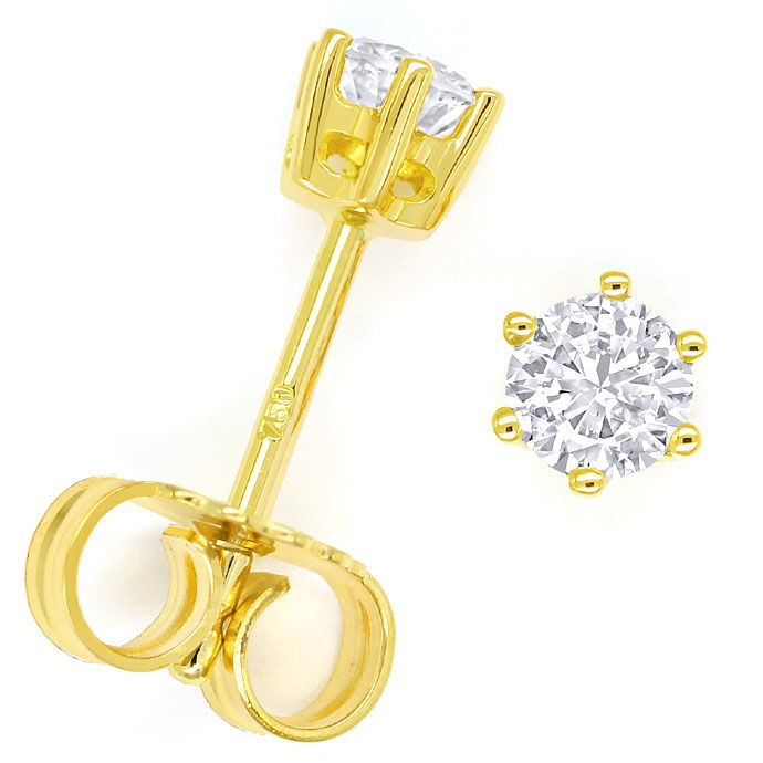 Foto 1, Krappen Diamant Ohrstecker mit 0,39ct Brillanten in 18K, R9076