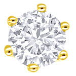 Krappen-Diamant-Ohrstecker mit 0,39ct Brillanten in 18K