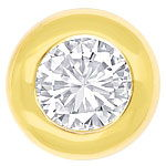 Diamantohrstecker mit 0,61ct Brillanten in 18K Gelbgold