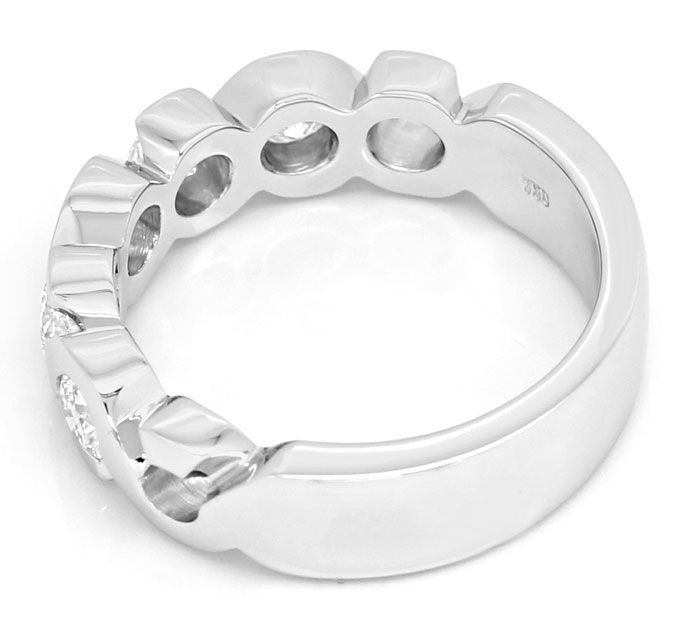 Foto 3, Halbmemory Allianz Ring mit 0,93ct Brillanten Weissgold, R9289