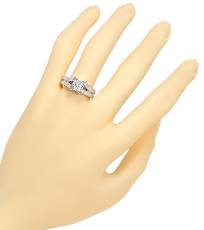 Foto 4 - Massiver Designer Ring mit 1,17ct Brillant in Weissgold, R9625