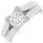 Massiver Designer Ring mit 1,17ct Brillant in Weissgold