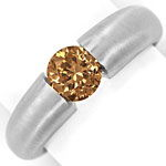 Weissgold Spannring mit 1,09ct Brillant Fancy Brown IGI