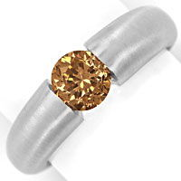 zum Artikel Weissgold Spannring mit 1,09ct Brillant Fancy Brown IGI, R9687