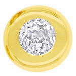 Diamant Ohrstecker mit 0,46ct Diamanten in Gelbgold 18K