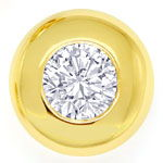 Brillant Zargen Ohrstecker 0,4ct Brillanten in Gelbgold