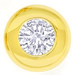 River D E Diamant Ohrstecker 0,37ct Brillanten Gelbgold