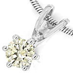 Diamantkollier mit 0,23ct VVS Brillant in 18K Weissgold