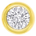 Brillantohrstecker 0,77ct Brillanten in Gelbgold Zargen