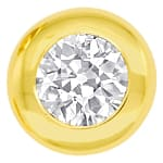 Diamanten Zargen Ohrringe mit 0,54ct Diamanten Gelbgold