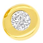Zargen Diamanten Ohrstecker mit 0,3ct in 750er Gelbgold