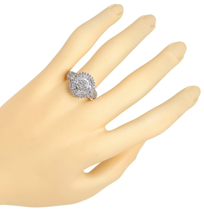 Foto 4 - Ring mit 1,07ct River Diamanten in Silber, 925 Sterling, R9830