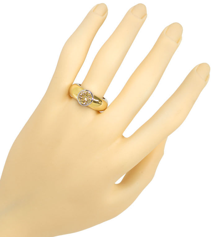 Foto 4, Bandring 2,07ct Brilliant Solitär Fancy Yellowish Brown, R9853