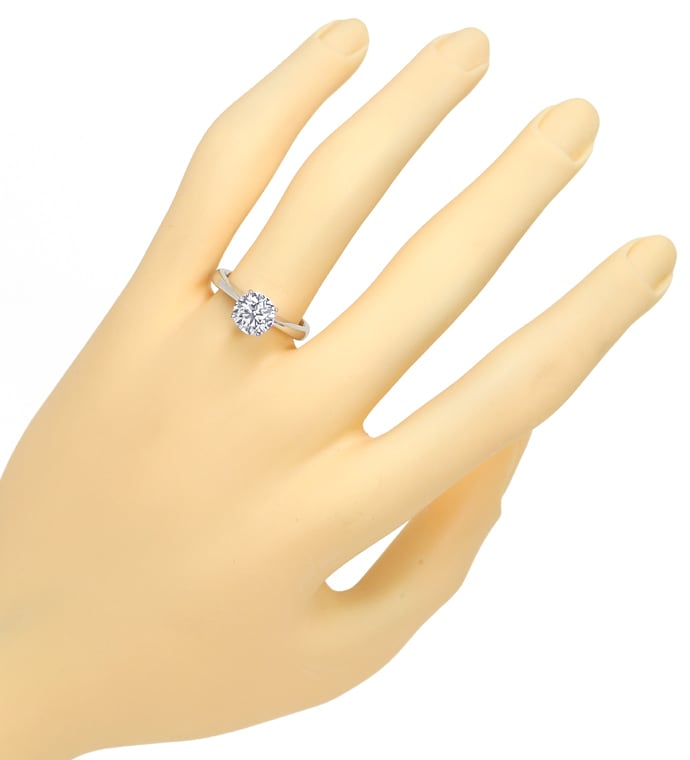 Foto 4 - Brillant Solitär 1,50ct GIA Expertise in Weissgold Ring, R9928
