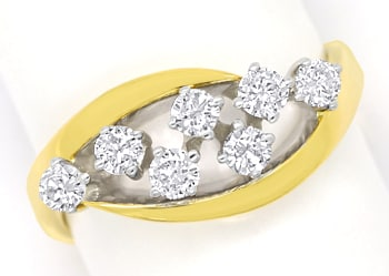 Foto 1 - Diamantring mit 0,50 Carat River Brillanten in 14K Gold, R9952