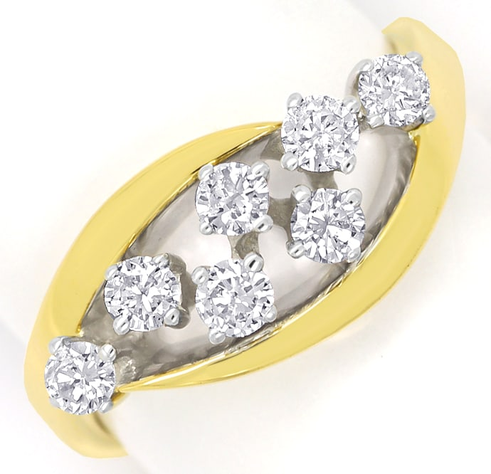 Foto 2 - Diamantring mit 0,50 Carat River Brillanten in 14K Gold, R9952