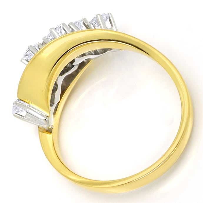 Foto 3, Diamantring mit 0,50 Carat River Brillanten in 14K Gold, R9952