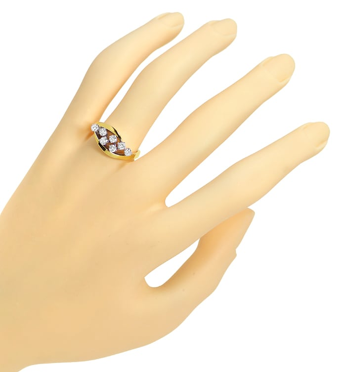Foto 4 - Diamantring mit 0,50 Carat River Brillanten in 14K Gold, R9952