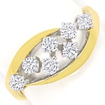 Diamantring mit 0,50 Carat River Brillanten in 14K Gold