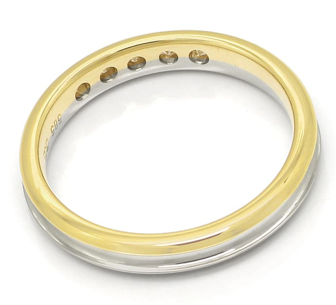 Foto 3 - Diamantring Halbmemoryring mit 0,13ct Brillanten in 14K, R9953