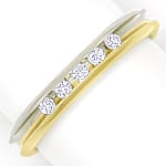 Diamantring Halbmemoryring mit 0,13ct Brillanten in 14K