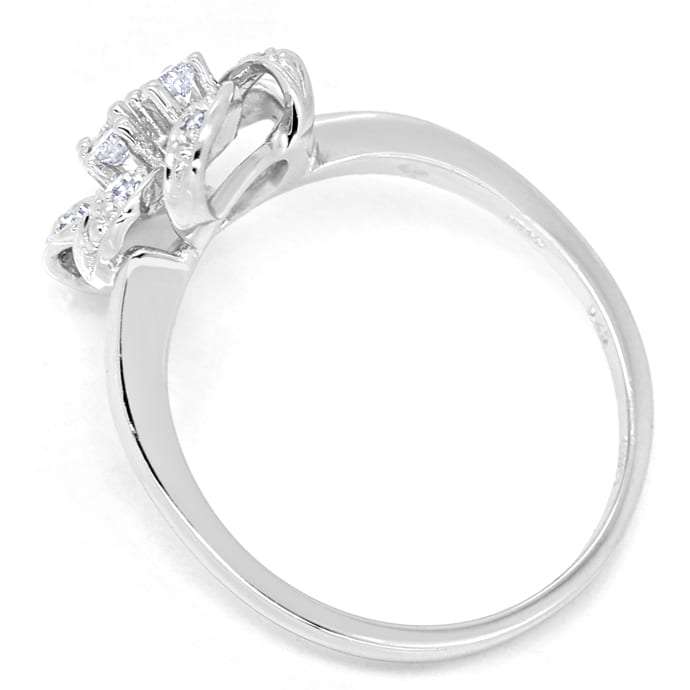 Foto 3, Diamantring 0,25ct Diamanten und Brillanten in Weißgold, R9979