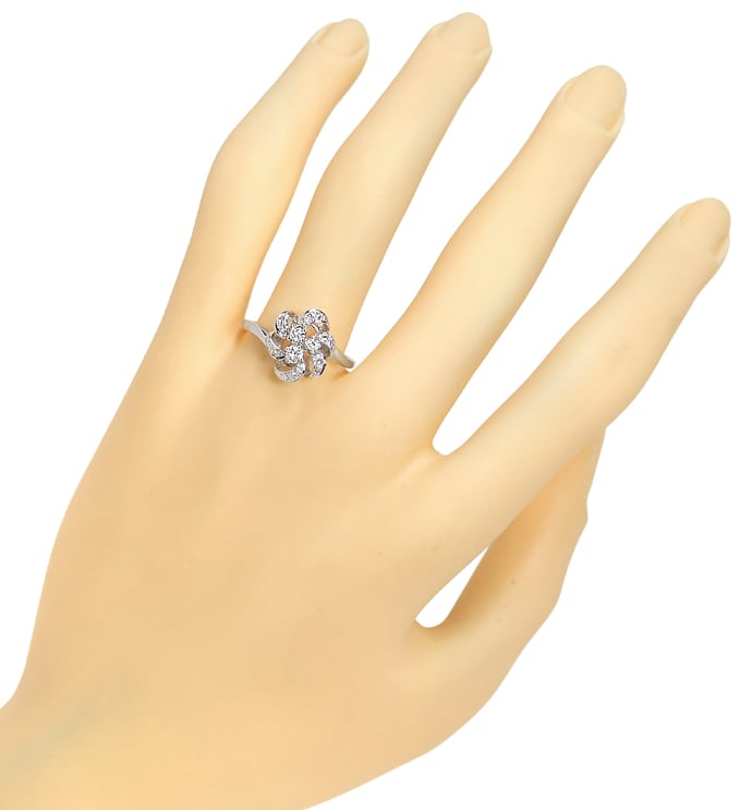 Foto 4, Diamantring 0,25ct Diamanten und Brillanten in Weißgold, R9979