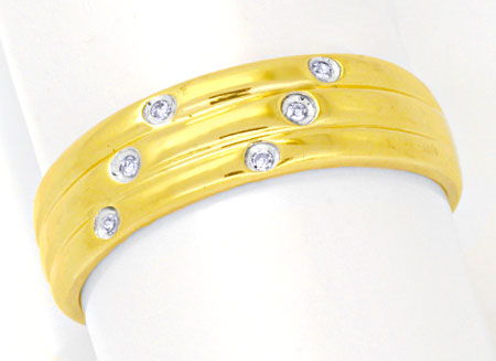 Foto 1, Eleganter Goldring, sechs Diamanten! River! 14Karat/585, S0108