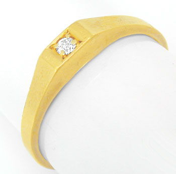 Foto 1 - Gelbgold Ring mit Diamant / Brillant River 14 Karat/585, S0324