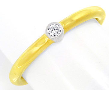 Foto 1, Schmuck Top Bicolor Ring, Brillant! River! 18Karat/750!, S0540