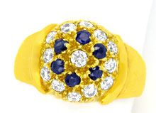 Foto 1 - Super Gelbgold Ring, Safire! Super Design! 14Karat/585!, S0958