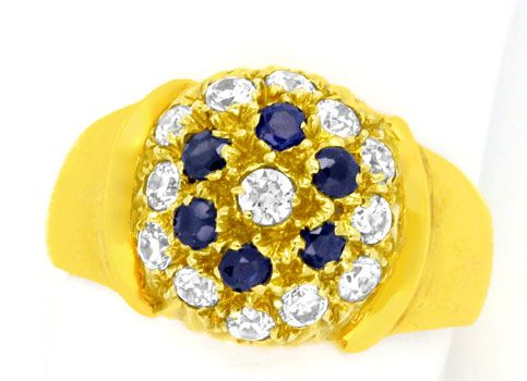 Foto 2 - Super Gelbgold Ring, Safire! Super Design! 14Karat/585!, S0958