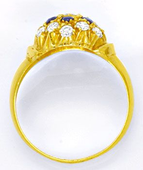 Foto 3 - Super Gelbgold Ring, Safire! Super Design! 14Karat/585!, S0958