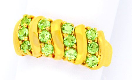Foto 1 - Traumhafter Gold Ring, 1A Peridote! Top Brillanz! 14K!!, S0985
