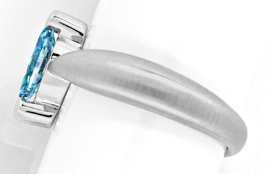 Foto 3 - Ring 0,71ct Blue Diamond Blauer Diamant, Treated Luxus!, S1302