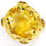 Designer Ring 14,7ct goldgelbe Citrine, in 14K Gelbgold