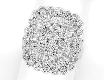 Foto 1 - Diamantring 2,0ct Brillanten und Diamanten in Weissgold, S1322