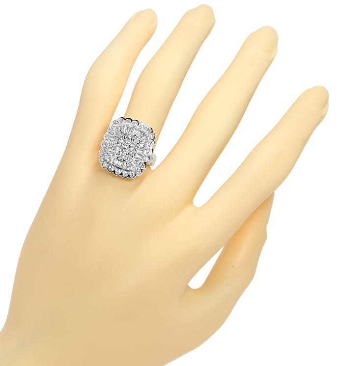 Foto 4 - Diamantring 2,0ct Brillanten und Diamanten in Weissgold, S1322