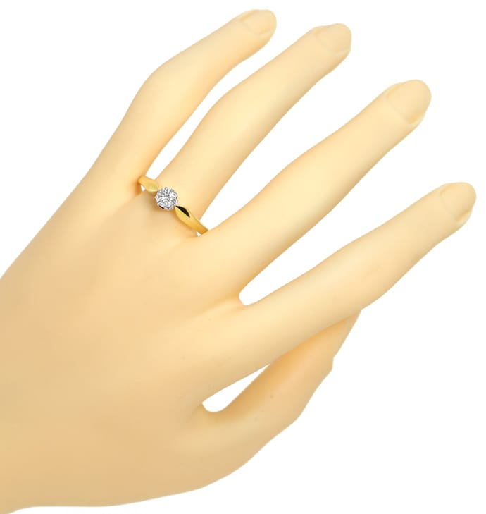 Foto 4 - Krappenring 0,41ct River Brilliant Solitär Bicolor Gold, S1340